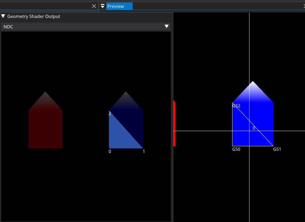 Updated Geometry Shader Output window